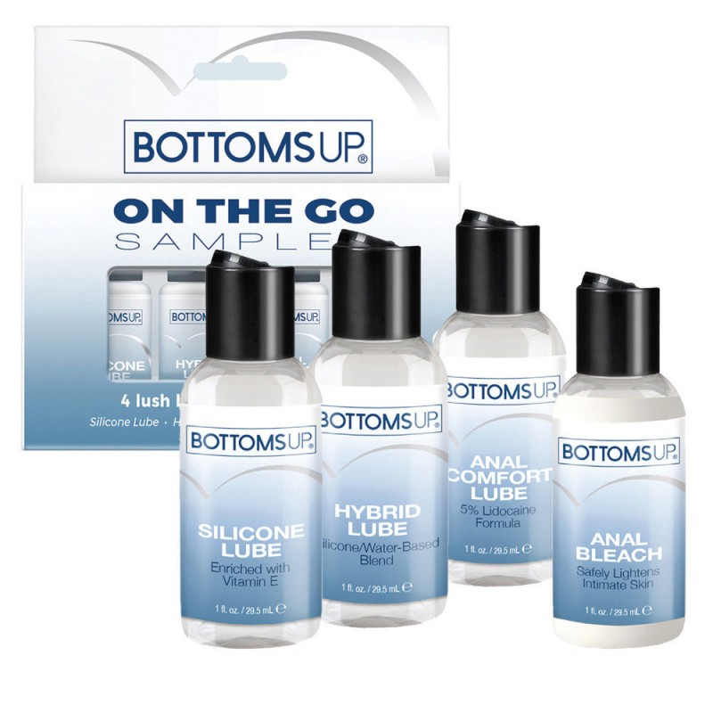 Bottoms Up 4 x 30ml pack - Anal Bleach and Lubricants